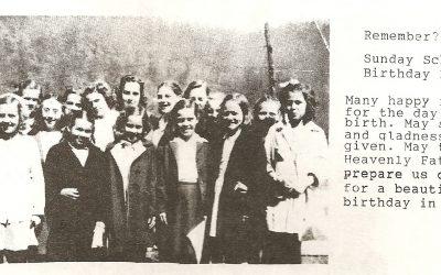 Five Mile Sunday School Class Near Ward, WV | 1927-1929