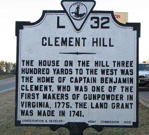 Clement Hill Benjamin Clement Patriot Ancestor